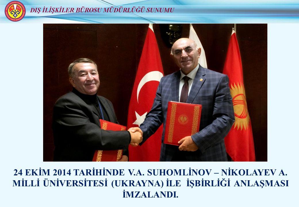 24 EKİM 2014 TARİHİNDE V.A. SUHOMLİNOV – NİKOLAYEV A.