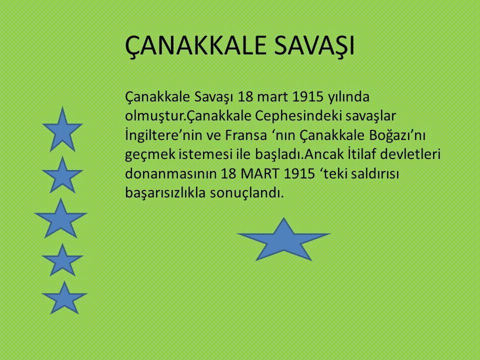 KURTULUŞ SAVAŞI Türk Kurtuluş Savaşı, İstiklâl Harbi, Türk İstiklâl Harbi ya da Millî Mücadele olarak adlandırılan, I.