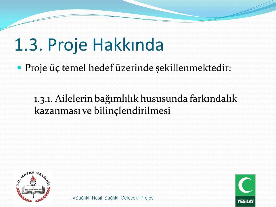 1.3. Proje Hakkında Proje üç temel hedef üzerinde şekillenmektedir: «Sağlıklı Nesil, Sağlıklı Gelecek