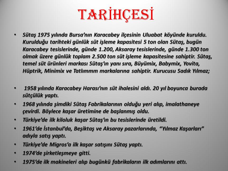 TAR İ HÇES İ Sütaş 1975 yılında Bursa'nın Karacabey ilçesinin Uluabat köyünde kuruldu.