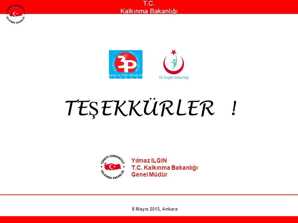 Yılmaz ILGIN T.C. Kalkınma Bakanlığı Genel Müdür 8 Mayıs 2013, AnkaraT.C. Kalkınma Bakanlığı TE Ş EKKÜRLER !