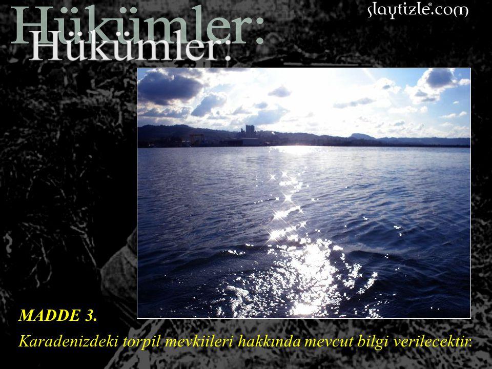 MADDE 2. Osmanlı sularındaki bütün torpil tarlaları, torpido ve kovan yerleri ve diğer engellerin yerleri gösterilecek, bunları taramak ve kaldırmak i