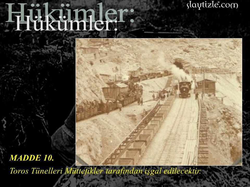 MADDE 9. İtilaf Devletlerine Osmanlı tersane ve limanlarında bütün gemilerin tamirleri için kolaylık gösterilecektir.