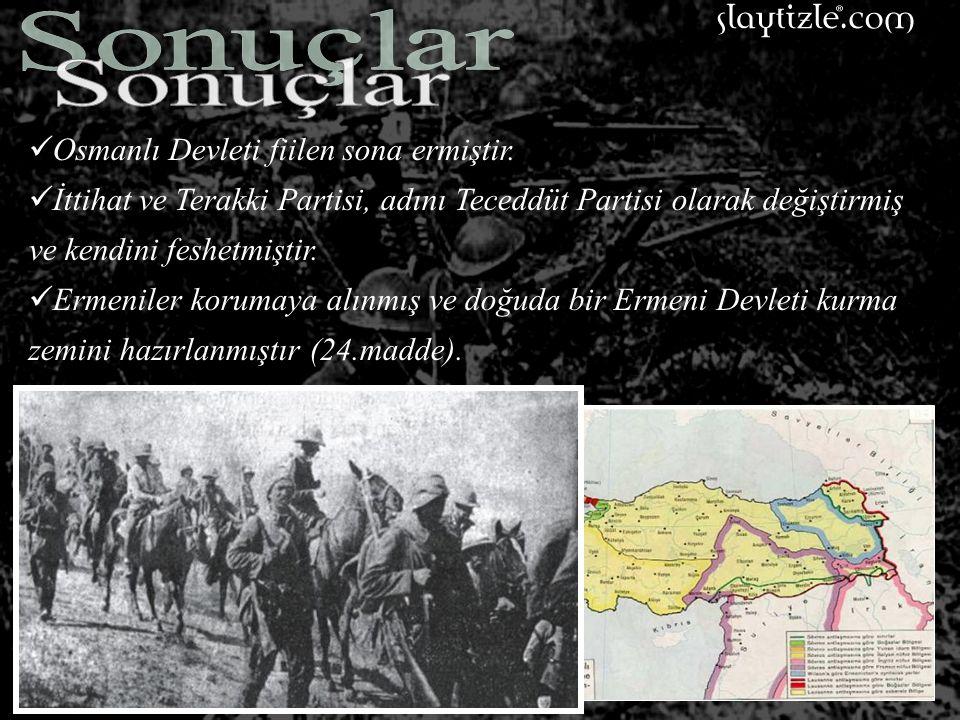 MADDE 25. Müttefiklerle Osmanlı Devleti arasındaki savaş 1918 yılı Ekim ayının 31'inci günü vasati mahalli saat ile öğle vakti sona erecektir.