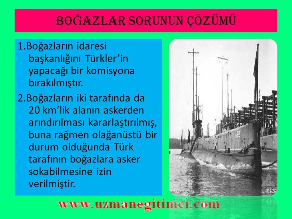 ANTLA Ş MANIN MADDELER İ -III  Azınlıklara verilen ayrıcalıklar kaldırılmış, tüm azınlıklar Türk vatandaşı kabul edilmiştir.  İstanbul'daki Rumlar h