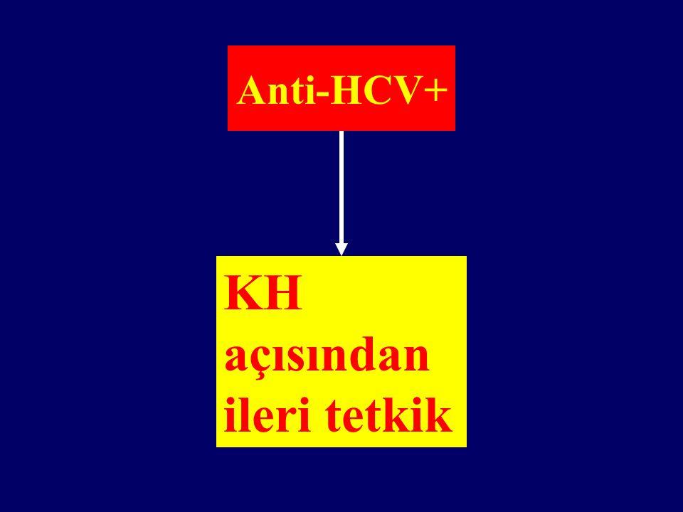 Anti-HCV+ KH açısından ileri tetkik