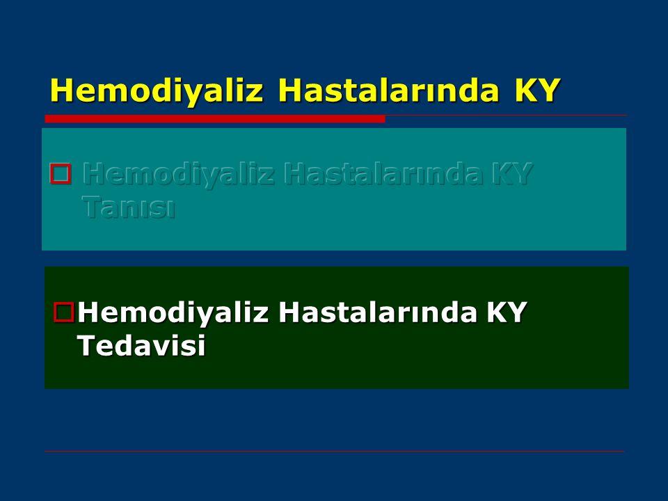 Hemodiyaliz Hastalarında KY  Hemodiyaliz Hastalarında KY Tedavisi