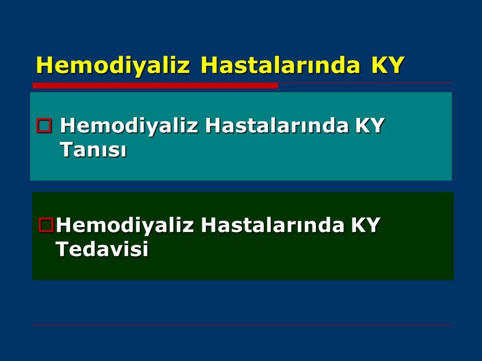 Hemodiyaliz Hastalarında KY  Hemodiyaliz Hastalarında KY Tanısı  Hemodiyaliz Hastalarında KY Tedavisi