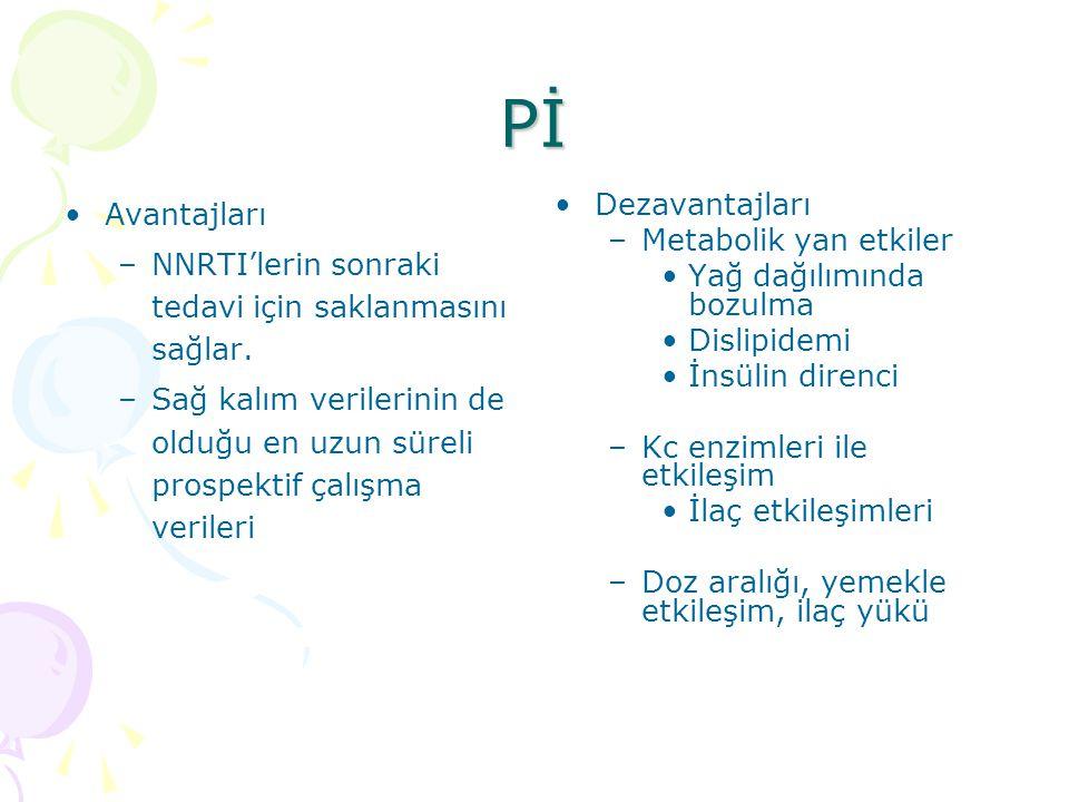 Pİ Avantajları –NNRTI'lerin sonraki tedavi için saklanmasını sağlar.