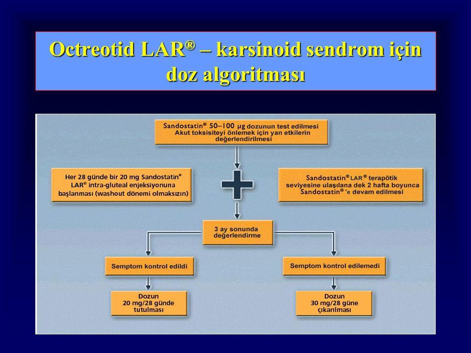 Octreotid LAR ® – karsinoid sendrom için doz algoritması