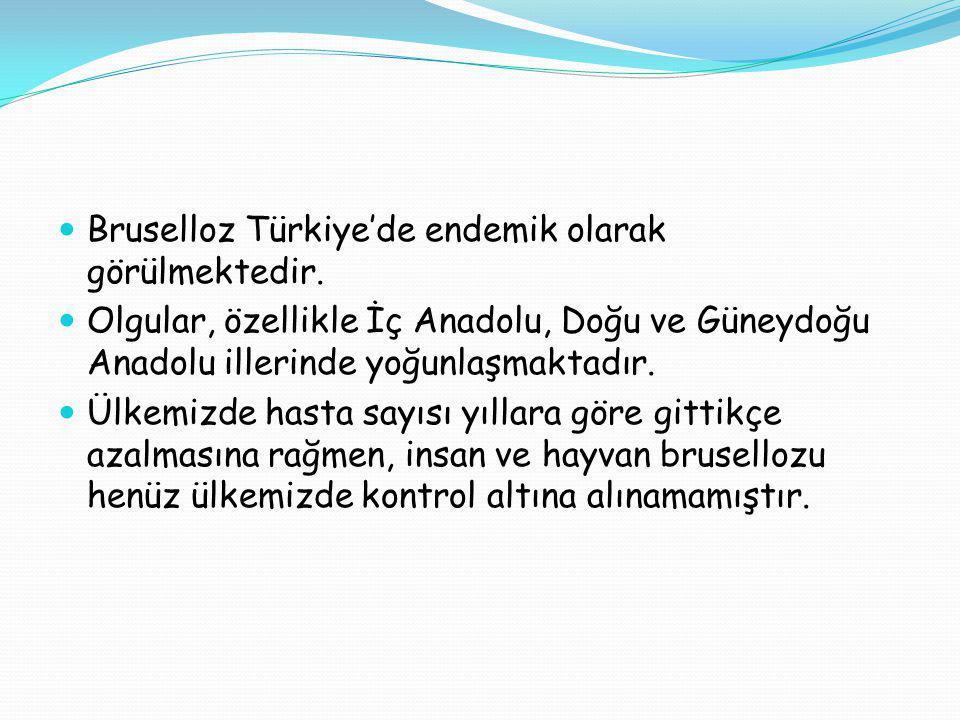 Bruselloz Türkiye'de endemik olarak görülmektedir. Olgular, özellikle İç Anadolu, Doğu ve Güneydoğu Anadolu illerinde yoğunlaşmaktadır. Ülkemizde hast