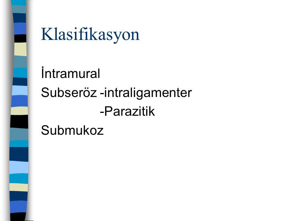 Klasifikasyon İntramural Subseröz-intraligamenter -Parazitik Submukoz