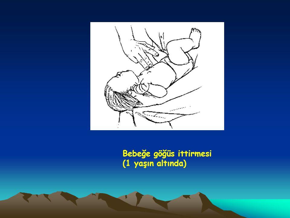 Bebeğe göğüs ittirmesi (1 yaşın altında)