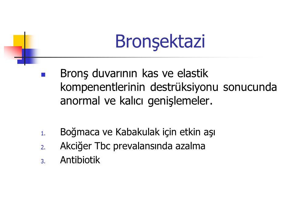 Raid'in bronkografi bulgularına göre Bronşektazi 1.