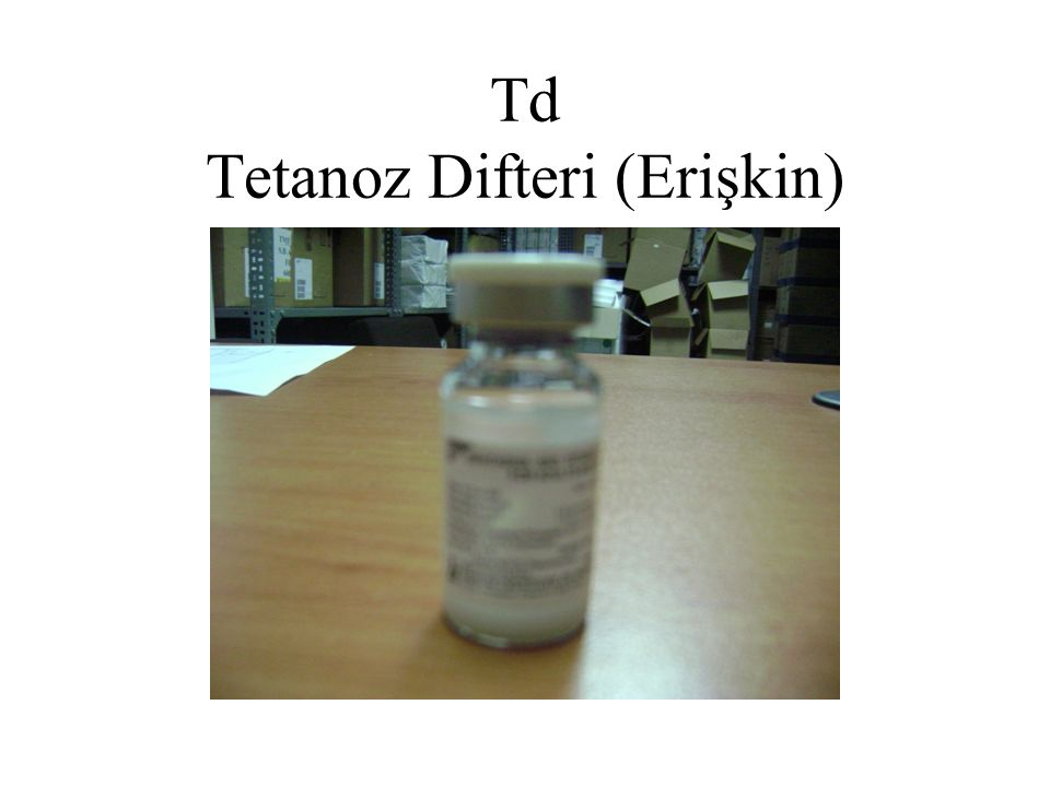 Td Tetanoz Difteri (Erişkin)