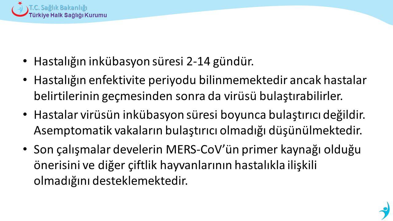 Türkiye Halk Sağlığı Kurumu T.C.Sağlık Bakanlığı Hastalığın inkübasyon süresi 2-14 gündür.