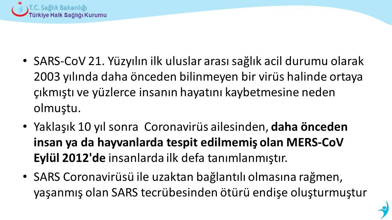 Türkiye Halk Sağlığı Kurumu T.C.Sağlık Bakanlığı SARS-CoV 21.
