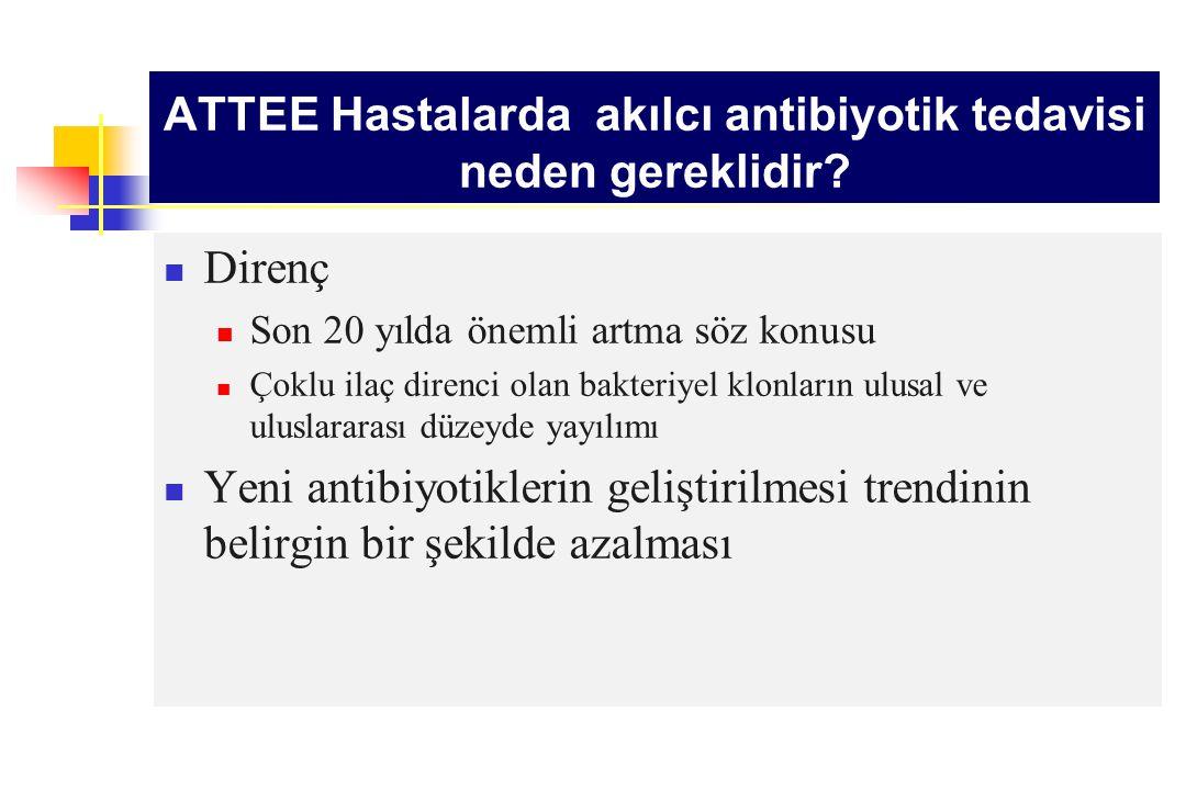 ATTEE Hastalarda akılcı antibiyotik tedavisi neden önemlidir.