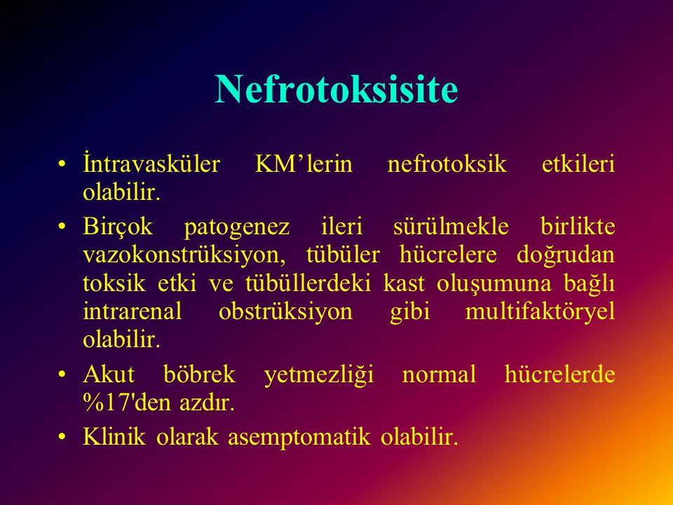 İyodizm KM'deki serbest iyot radyoaktif iyot testlerini bozabilir. Hipertiroidizm indükte olabilir ve tükrük bezleri birkaç gün sonra büyüyebilir.