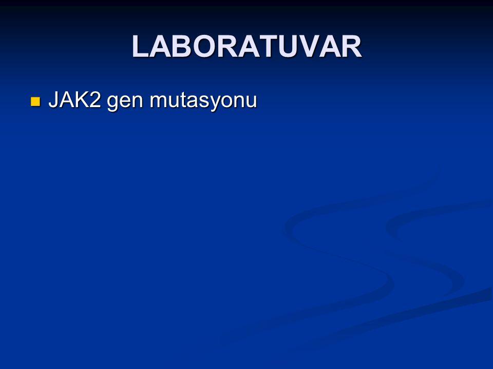 LABORATUVAR JAK2 gen mutasyonu JAK2 gen mutasyonu