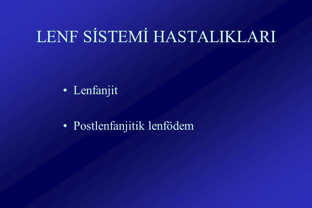 LENF SİSTEMİ HASTALIKLARI Lenfanjit Postlenfanjitik lenfödem
