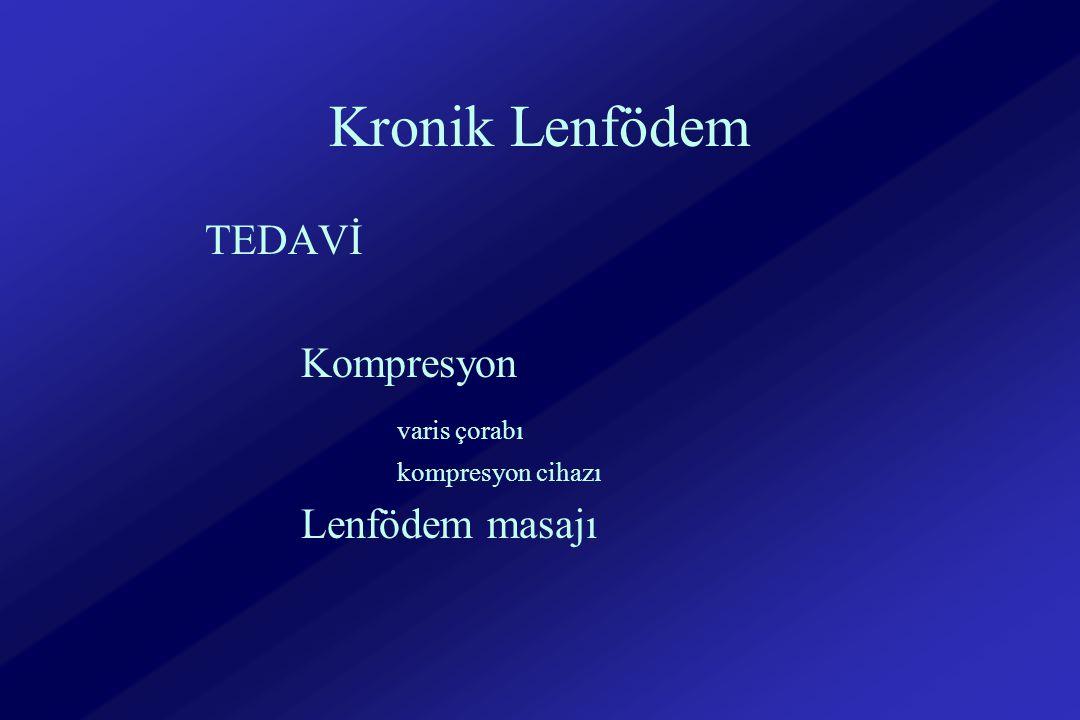Kronik Lenfödem TEDAVİ Kompresyon varis çorabı kompresyon cihazı Lenfödem masajı