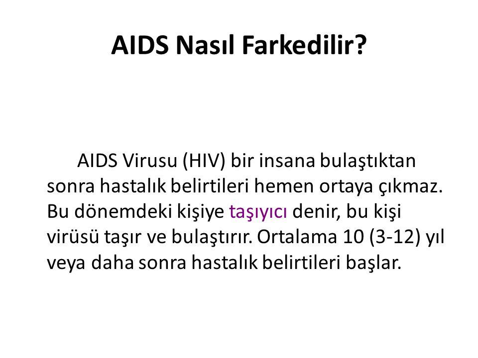 AIDS Nasıl Farkedilir.