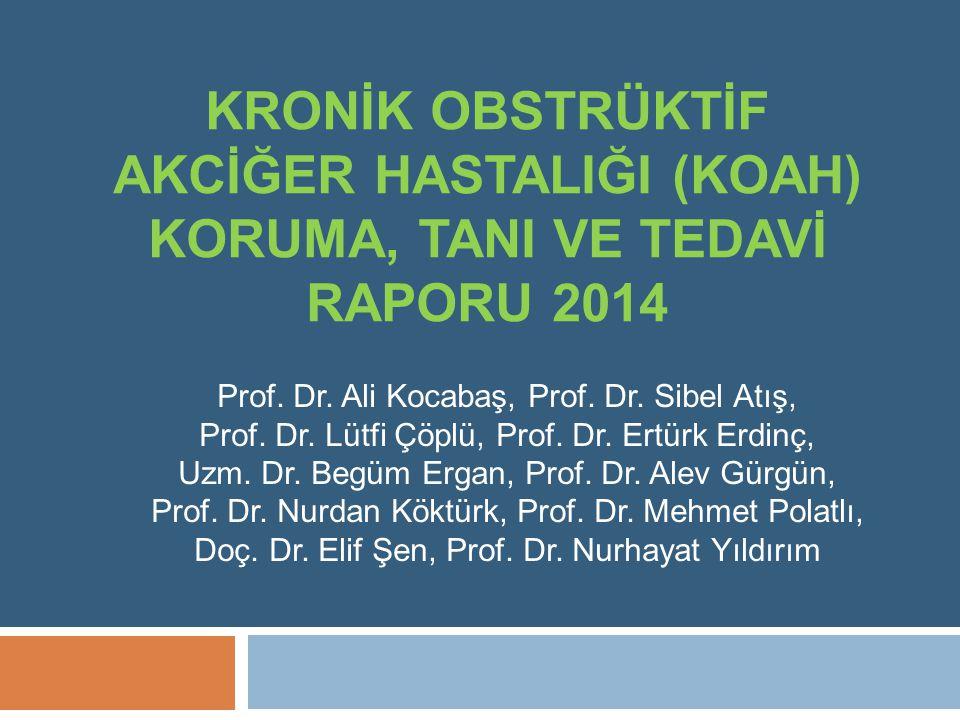 KRONİK OBSTRÜKTİF AKCİĞER HASTALIĞI (KOAH) KORUMA, TANI VE TEDAVİ RAPORU 2014 Prof.