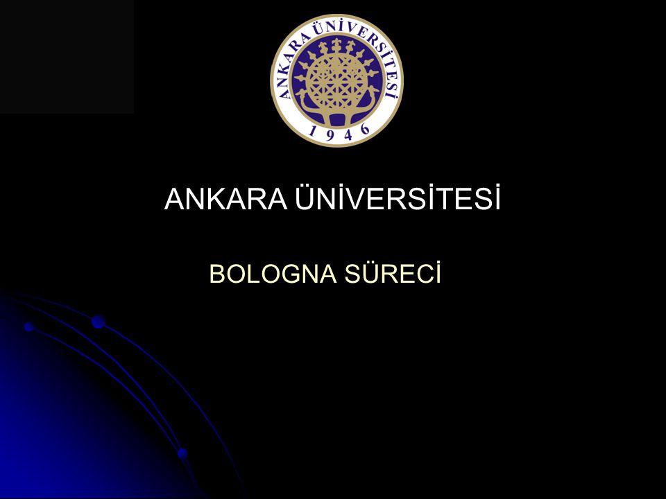Amaç: Ankara Üniversitesi'nde eğitim-öğretim sistemlerinin farklılıklarını ve özgünlüklerini koruyarak, toplumun ihtiyaçlarını karşılayan, ulusal ve uluslararası normlara uygun, kolay anlaşılabilir ve karşılaştırılabilir bir öğretim sistemi oluşturulabilmesi 2