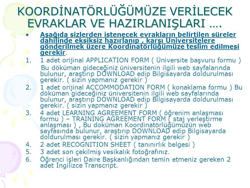 Başvuru formu ( Application Form ) …ÖRNEĞİ…
