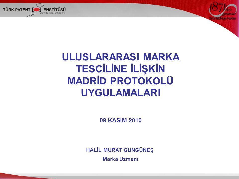 2 SUNUM İÇERİĞİ Uluslararası Tescil Sistemleri Madrid Sistemi Türkiye Tarihçesi Sistemin İşleyişi Karşılaşılan Sorunlar ve Öneriler İstatistiki Veriler