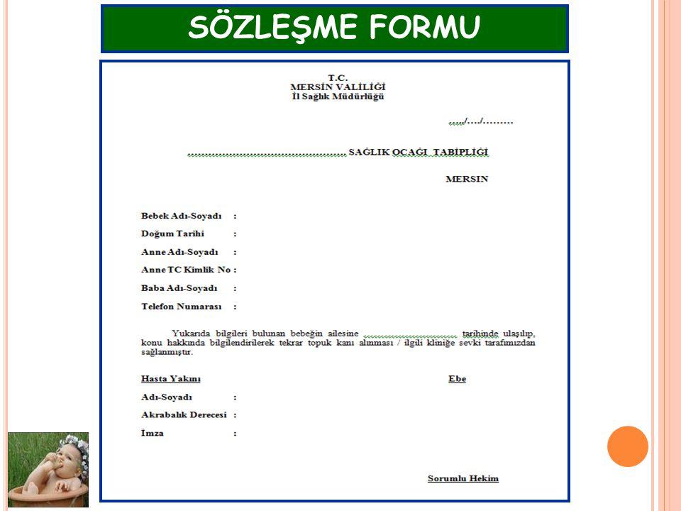 AÇSAP Şube Müdürlüğü -2011 SÖZLEŞME FORMU