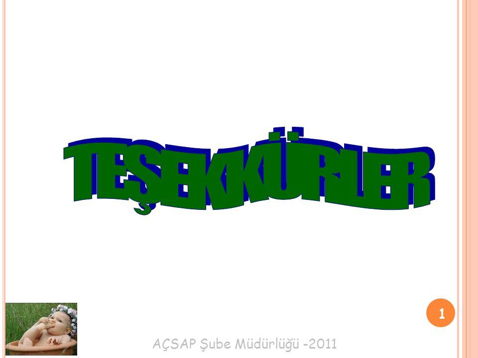 AÇSAP Şube Müdürlüğü -2011 1