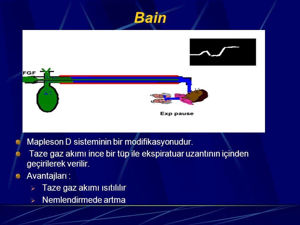 Bain Mapleson D sisteminin bir modifikasyonudur.