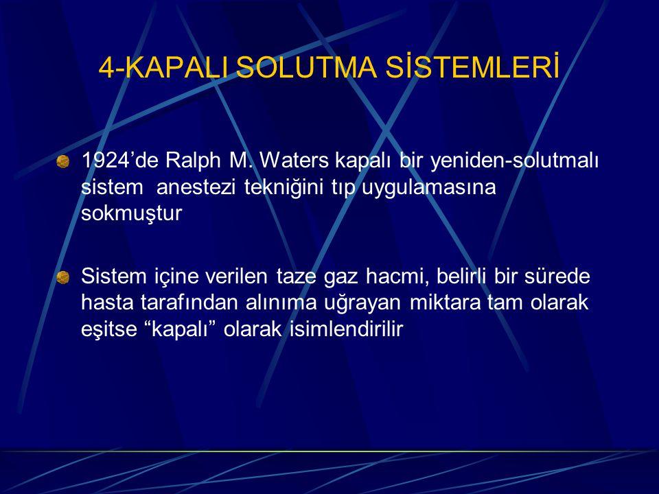 4-KAPALI SOLUTMA SİSTEMLERİ 1924'de Ralph M.