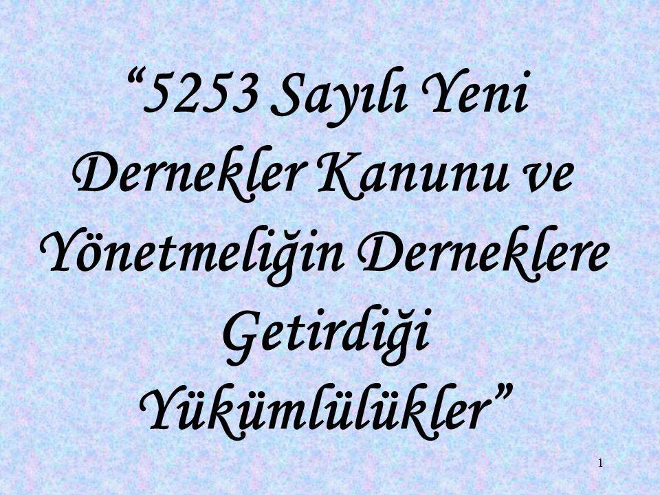 82 l) 22, 23 ve 24 üncü maddelerde belirtilen bildirim yükümlülüğünü, 19 uncu maddede belirtilen beyanname verme yükümlülüğünü yerine getirmeyen dernek yöneticilerine ve 24 üncü maddede belirtilen temsilcilere beşyüz Türk Lirası idarî para cezası verilir.