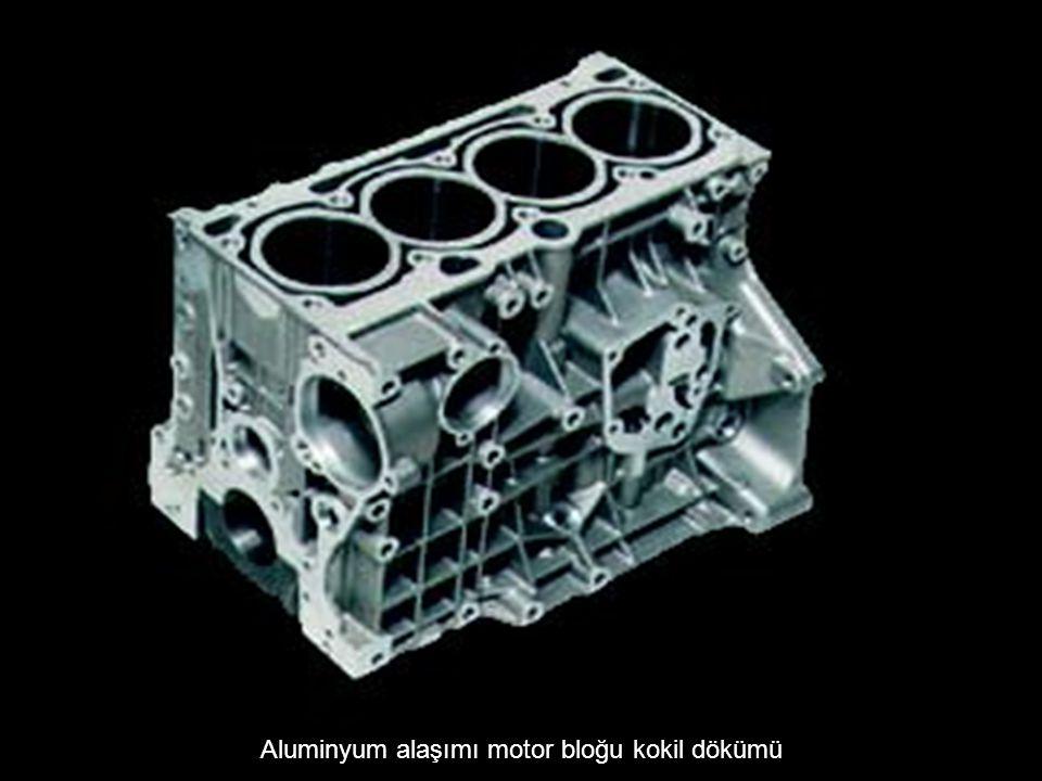Aluminyum alaşımı motor bloğu kokil dökümü