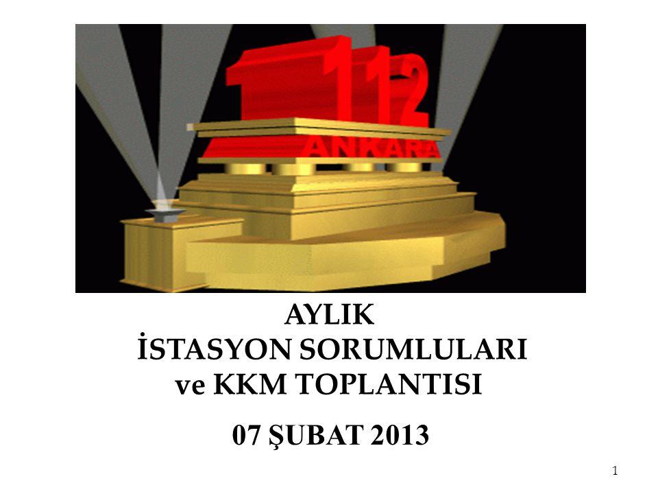 AYLIK İSTASYON SORUMLULARI ve KKM TOPLANTISI 07 ŞUBAT 2013 1