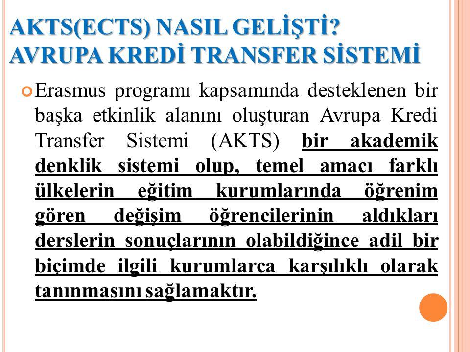AVRUPA KREDİ TRANSFER SİSTEMİ'NİN AMACI NEDİR.