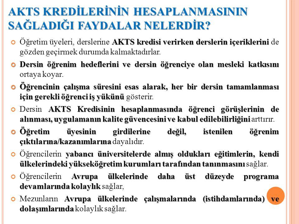 AKTS NASIL UYGULANIR.AKTS''nin uygulanmasında şu temel araçlardan yararlanılır.