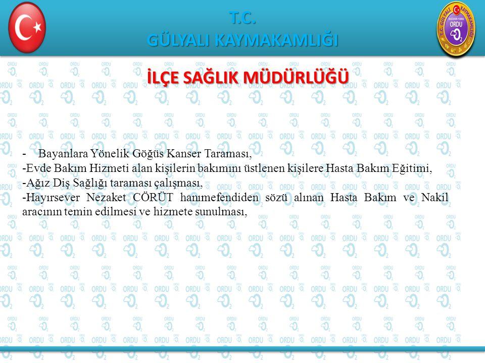 T.C. GÜLYALI KAYMAKAMLIĞI T.C.