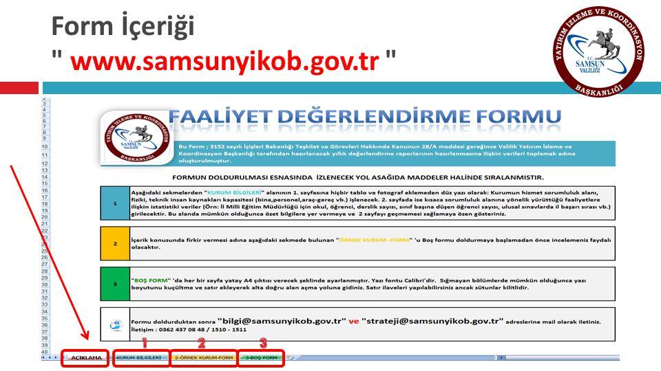 Form İçeriği www.samsunyikob.gov.tr