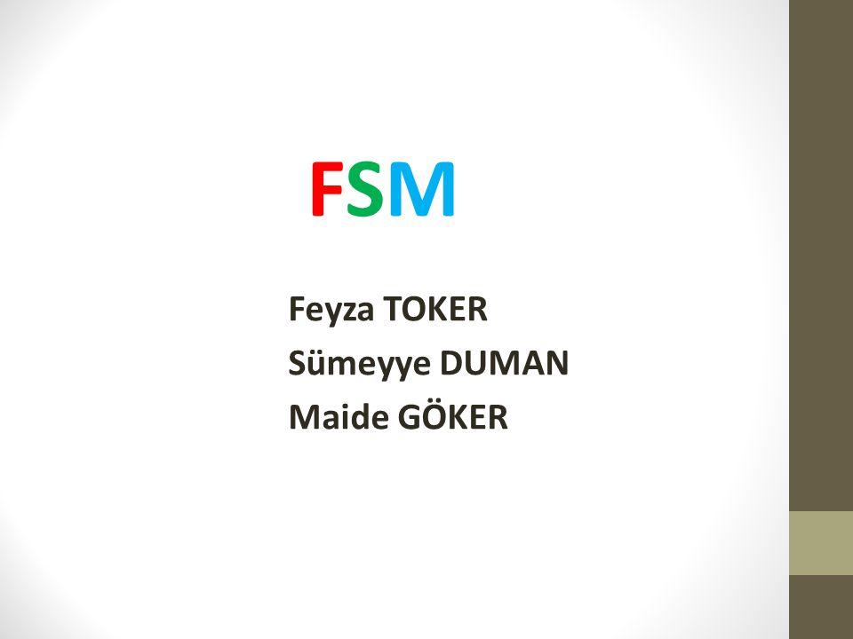 FSM Feyza TOKER Sümeyye DUMAN Maide GÖKER