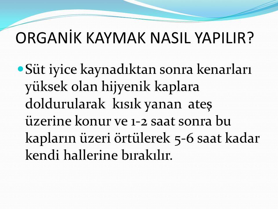 ORGANİK KAYMAK NASIL YAPILIR.