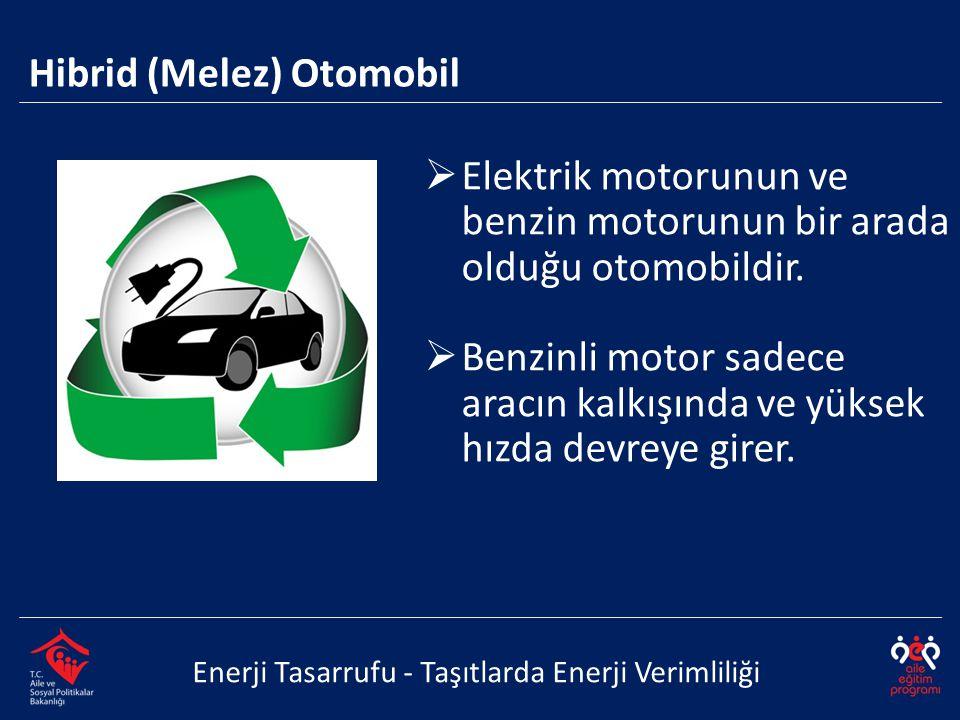  Elektrik motorunun ve benzin motorunun bir arada olduğu otomobildir.  Benzinli motor sadece aracın kalkışında ve yüksek hızda devreye girer. Enerji