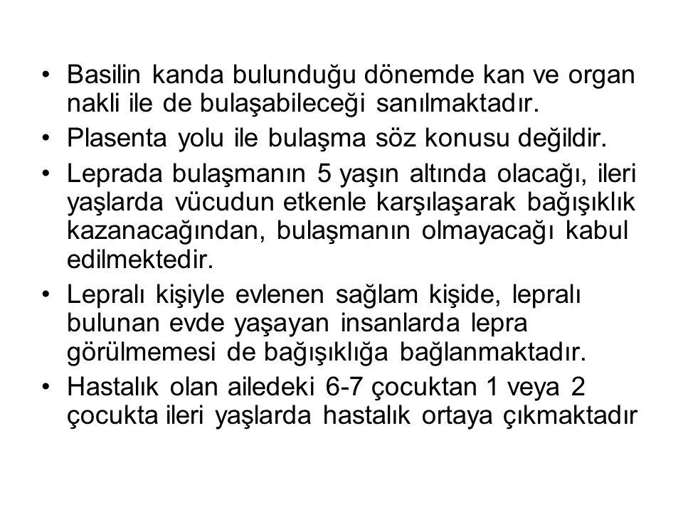 Ülkemizde lepra hizmetleri; 40 ilde Lepra- Frengi Savaş Başkanlığı, 16 Deri ve Tenasül Hastalıkları Dispanseri, 12 Cüzam Savaş Dispanseri, 1941 yılında Elazığ da kurulan 265 yataklı ilk Cüzam Hastanesi, Ankara ve İstanbul tıp fakültelerindeki 35 yataklı Deri Hastalıkları Kürsüleri ile Cüzam Savaş ve Araştırma dernekleri tarafından yürütülmektedir.