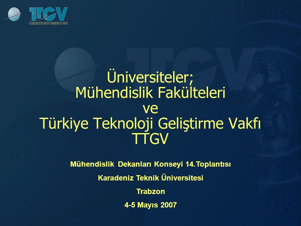 2 TTGV – Türkiye Teknoloji Geliştirme Vakfı'nın tanıtılmasıTTGV – Türkiye Teknoloji Geliştirme Vakfı'nın tanıtılması TTGV ve Mühendislik Fakülteleri ile işbirliği olanaklarıTTGV ve Mühendislik Fakülteleri ile işbirliği olanakları
