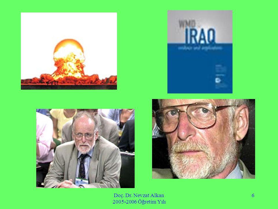 Doç. Dr. Nevzat Alkan 2005-2006 Öğretim Yılı 6