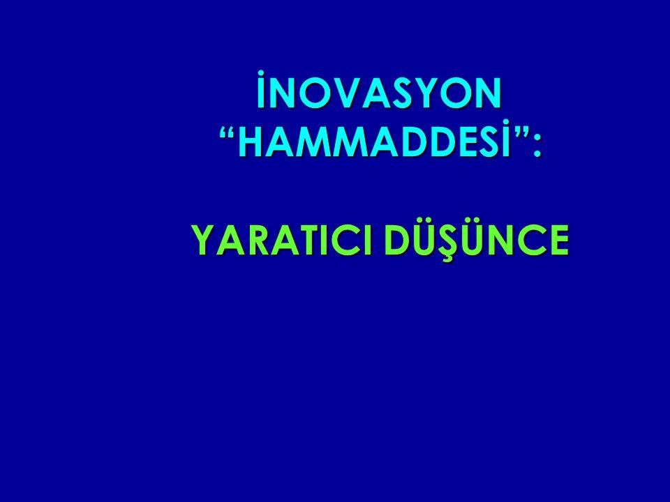 İNOVASYON HAMMADDESİ : YARATICI DÜŞÜNCE