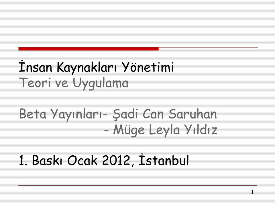 1 İnsan Kaynakları Yönetimi Teori ve Uygulama Beta Yayınları- Şadi Can Saruhan - Müge Leyla Yıldız 1.